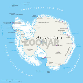 Antarctica Political Map