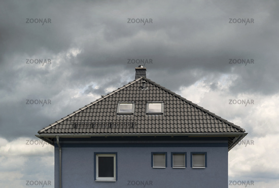 Clouds above the roof