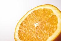 Section of orange isolated on white