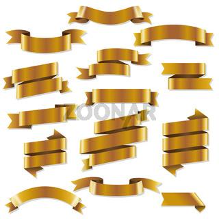 Golden Web Ribbons Set