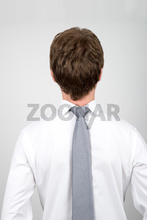 Office worker back to front