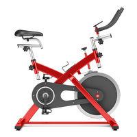 stationary exercise bike isolated on white