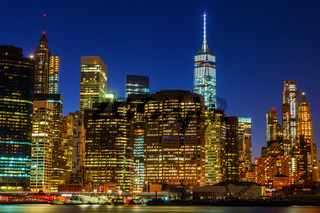 Nachtansicht von Manhattan, New York City