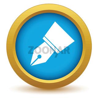 Gold pen icon