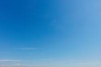 Empty blue sky background