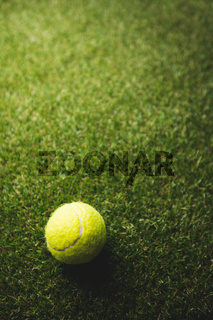 Close up of tennis ball
