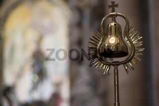 Liturgisches Gerät in der Klosterkirche Weltenburg an der Donau