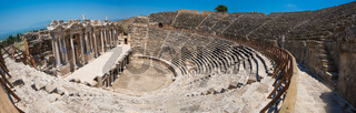 photo of ancient theatre in the city Hierapolis