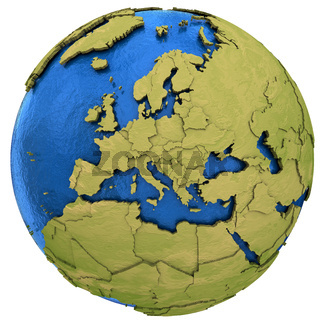 European continent on Earth