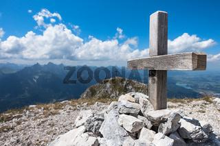 Gipfelkreuz des Säuling
