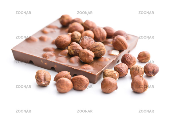 sweet chocolate with hazelnuts