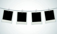 Blank photo frame with paperclip
