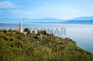 Medieval village at Adriatic coast, Croatia
