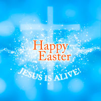 Happy Easter Jesus is alive greeting card