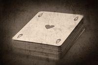 Grunge textured retro style background - Deck of cards
