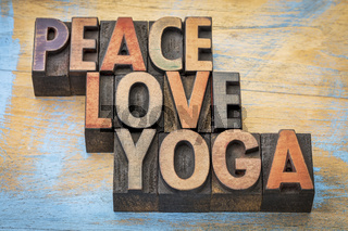 peace, love and yoga