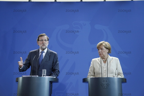 Merkel and  Rajoy in Berlin - press conference.