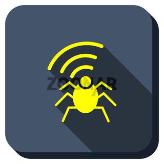 Radio Bug Longshadow Icon