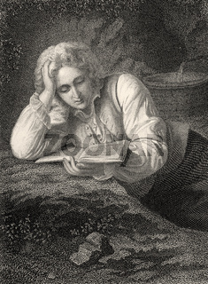 Werther, in Johann Wolfgang von Goethe's play 'The Sorrows of Young Werther