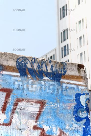 Berlin Wall ruins in Potsdam Square