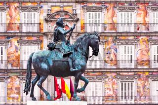 Statue of King Philips III, Plaza Mayor, Madrid.