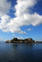 Corfu town from the sea