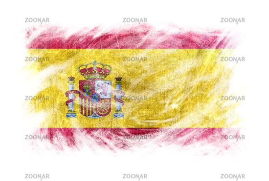 Spain flag blackboard chalk erased isolated