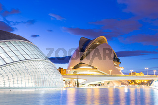 City of the Arts and Sciences in Valencia, Spain.