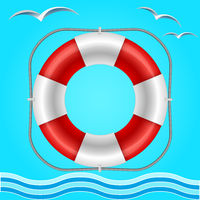 Rescue circle for help in water