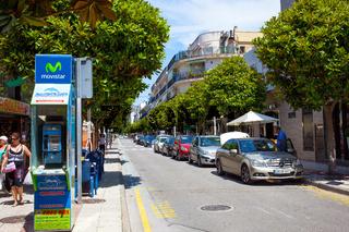 avenida Costa Brava street at summer day. Tossa de Mar