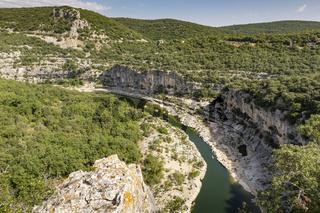 Der Fluss Ardeche in Frankreich