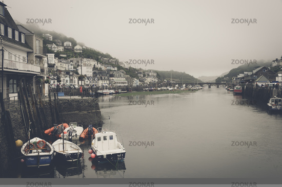 The fishing village of Looe on the banks of the R