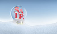 Christmas snow globe with word Sale inside 2016