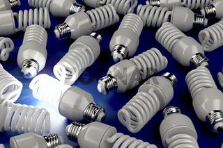 Unique glowing light bulb