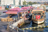 tourist barges in Istanbul