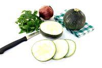 rotund raw zucchini
