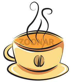 cup of coffee. Vector illustration. Doodle style