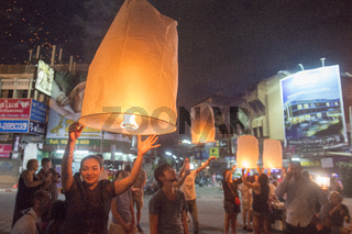 ASIA THAILAND CHIANG LOY KRATHONG FESTIVAL