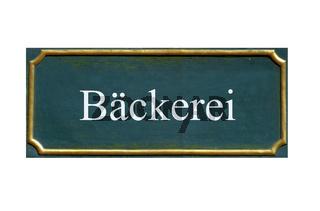 schild Baeckerei