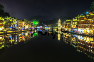 night view of fenghuang