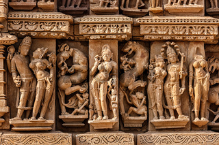Sculptures on Adinath Jain Temple, Khajuraho