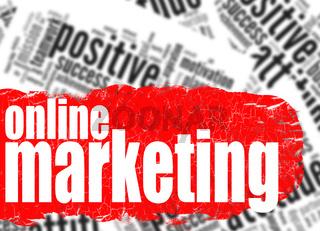 Word cloud online marketing