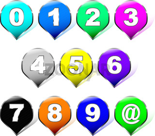 Rainbow number stickers