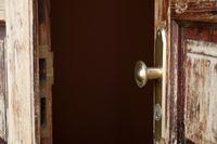 open wooden door, detail