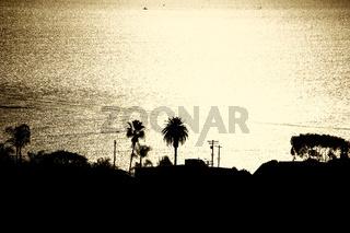 Sonnenuntergang Hafen Los Angeles