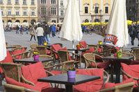 Open air cafe Krakow