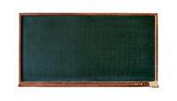 Blank green blackboard cutout