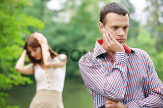 young couple facing problems