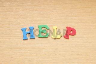 help in foam rubber letters