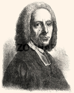 William Whiston, 1667-1752, an English theologian, historian, and mathematician,